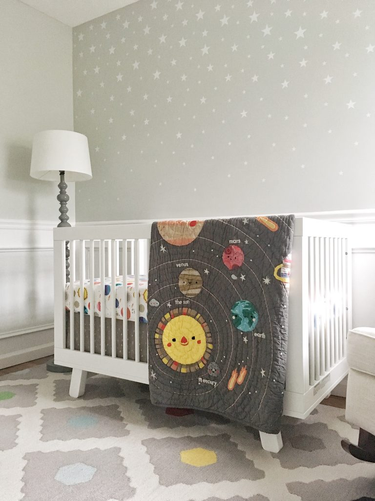 Outer Space Baby Nursery Reveal Pink Pineapple